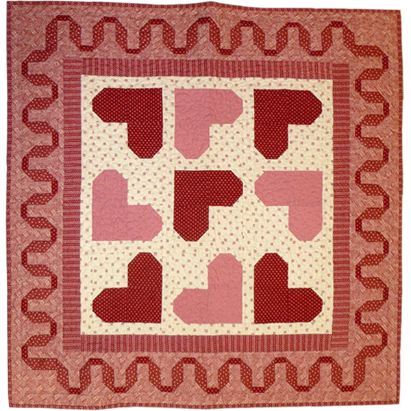 Hearts & Ribbons Quilt